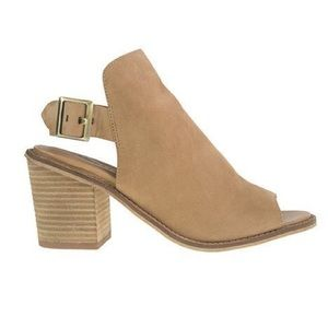 Chinese Laundry suede sling back suede booties 9.5
